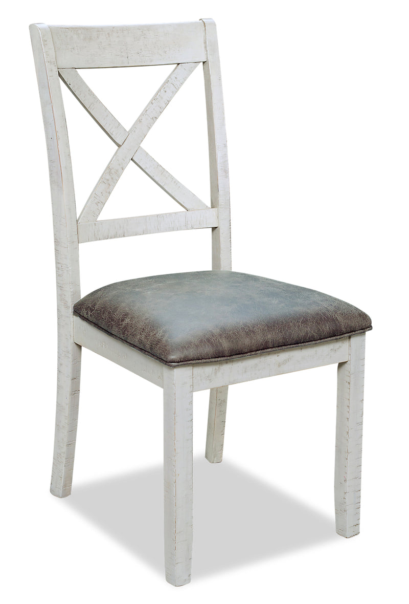 Emmy Dining Chair – Antique White|Chaise de salle à manger Emmy - blanc antique|EMMYWDSC