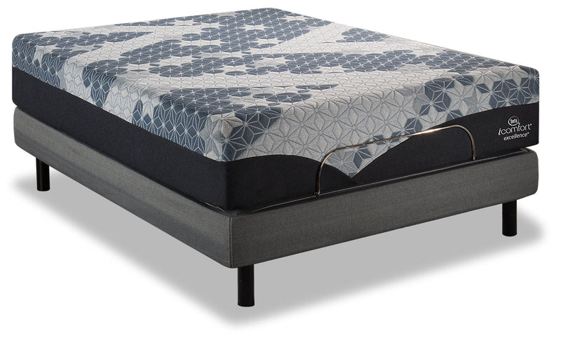 Serta iComfort Excellence Eminence Twin XL Mattress with Motion Perfect IV Adjustable Base|Matelas Eminence iComfortMD Excellence Serta lit simple très long, base ajustable Motion Perfect IV|EMP4JXTP