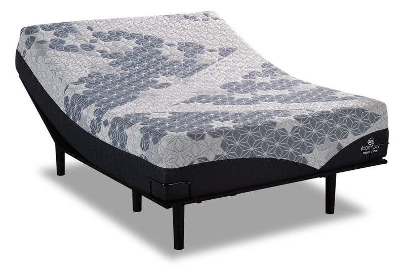 Serta iComfort Excellence Eminence Queen Mattress with Motion Slim Adjustable Base|Ensemble matelas Eminence iComfortMD Excellence Serta pour grand lit et base ajustable Motion Slim|EMSLADQP