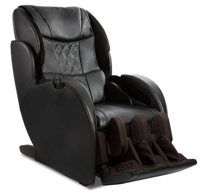 Panasonic High-Quality Synthetic Leather Urban Elite Dual Zone Heated Massage Chair - Black|Fauteuil de massage inclinable de la collection Urban Elite de Panasonic - noir|EPMAC8KB