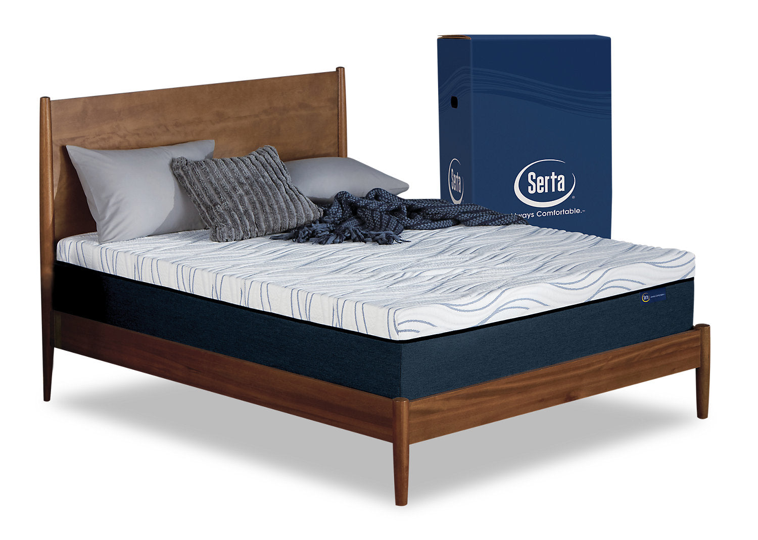 Serta Perfect Sleeper Express Queen Mattress In A Box With Boxspring