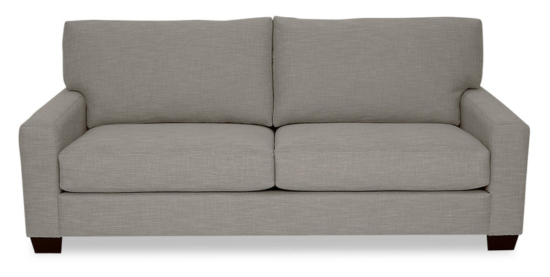 Designed2B Farah Linen-Look Fabric Sofa - Cabo Silver - {Contemporary} style Sofa in Cabo Silver {Solid Hardwoods}