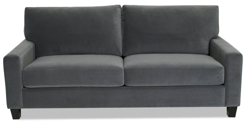 Designed2B Farah Velvet Sofa - Kira Grey - {Modern} style Sofa in Kira Grey {Solid Hardwoods}