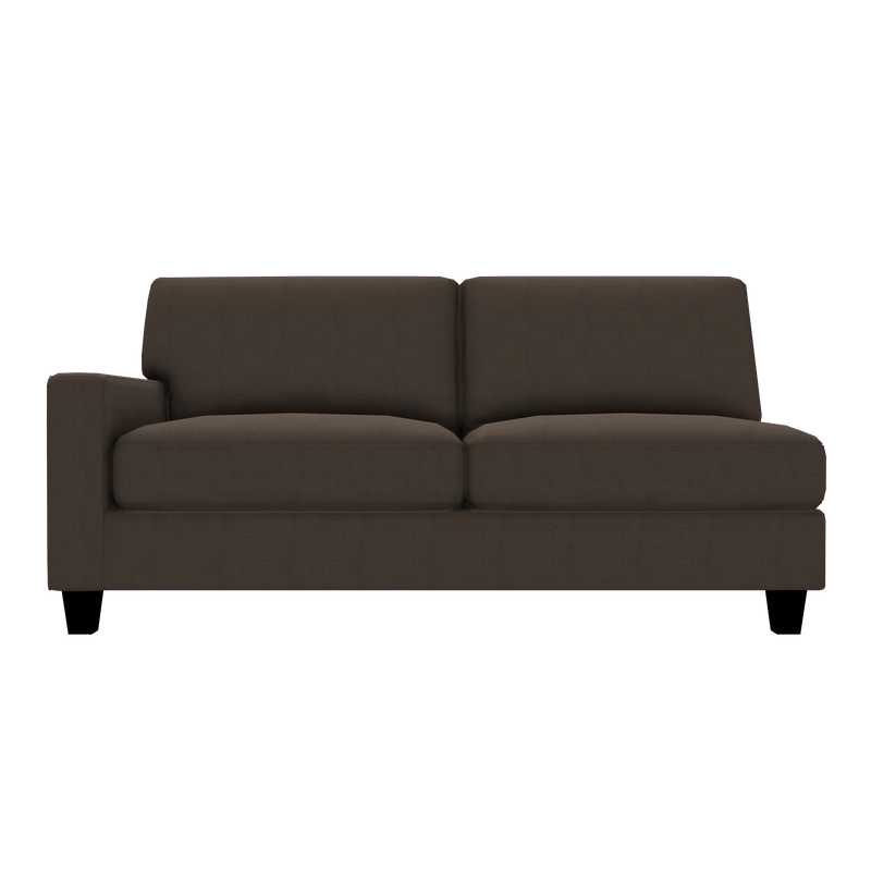 Designed2B Farah Textured Polyester LAF Sofa - Plush Dark Ash - Laf Sofa