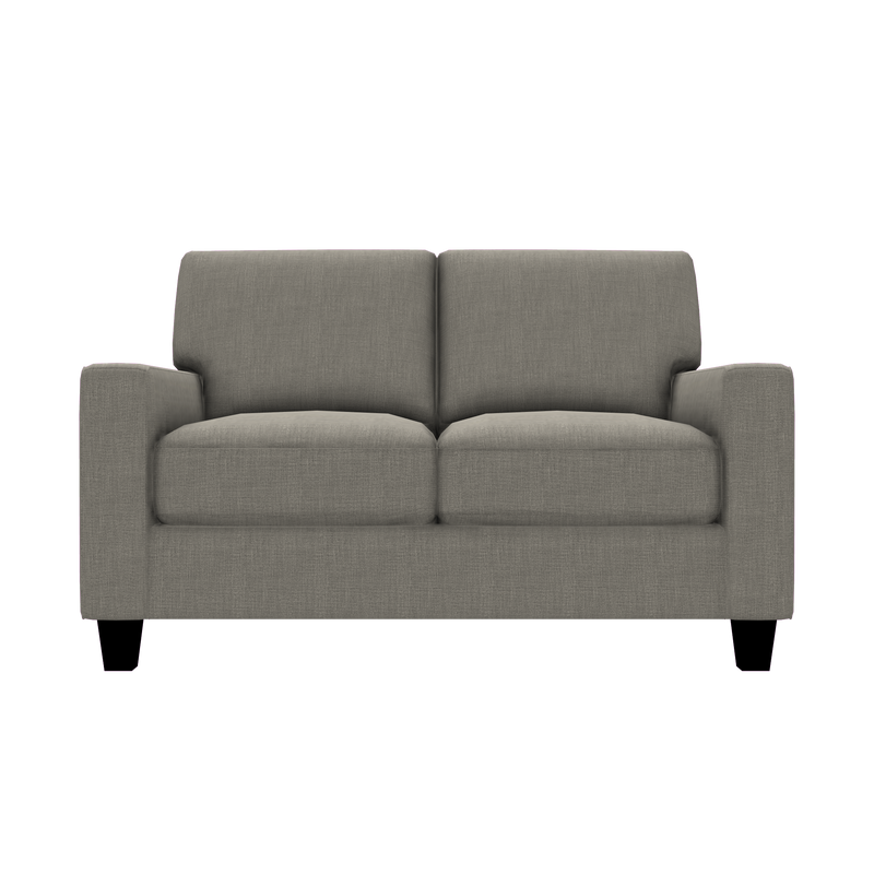 Designed2B Farah Linen-Look Fabric Loveseat - Cabo Smoke - Loveseat