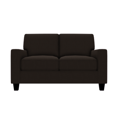 Designed2B Farah Textured Polyester Loveseat - Plush Chocolate|Causeuse Farah Design à mon image en polyester texturé  - Plush chocolat|FA202479