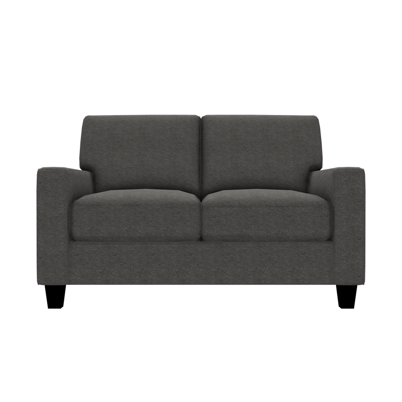 Designed2B Farah Chenille Loveseat - Milo Charcoal - Loveseat