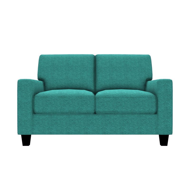 Designed2B Farah Chenille Loveseat - Milo Teal - Loveseat