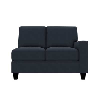 Designed2B Farah Linen-Look Fabric RAF Loveseat Sectional - Cabo Damask - Raf Loveseat Sectional