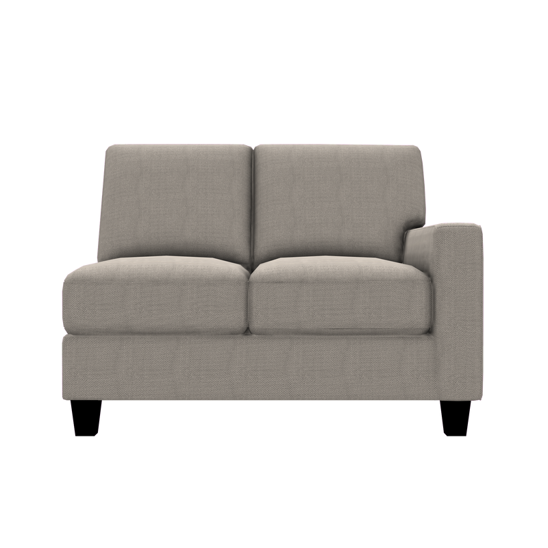 Designed2B Farah Textured Polyester RAF Loveseat Sectional - Plush Ecru - Raf Loveseat Sectional