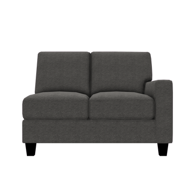 Designed2B Farah Chenille RAF Loveseat Sectional - Milo Charcoal - Raf Loveseat Sectional