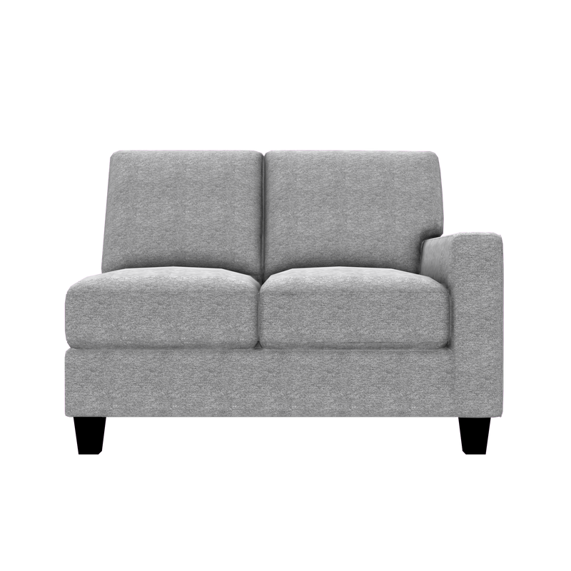 Designed2B Farah Chenille RAF Loveseat Sectional - Milo Linen - Raf Loveseat Sectional
