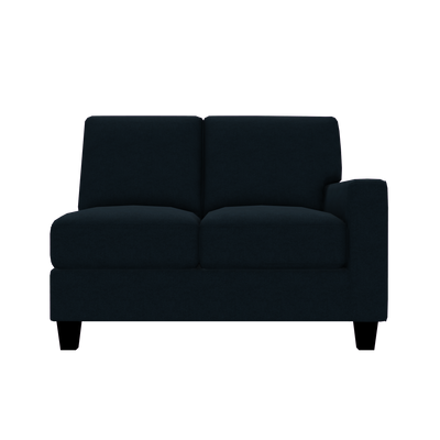 Designed2B Farah Velvet RAF Loveseat Sectional - Kira Royal - Raf Loveseat Sectional
