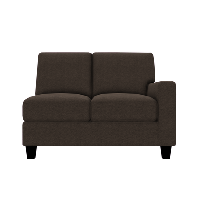 Designed2B Farah Chenille RAF Loveseat Sectional - Milo Espresso - Raf Loveseat Sectional