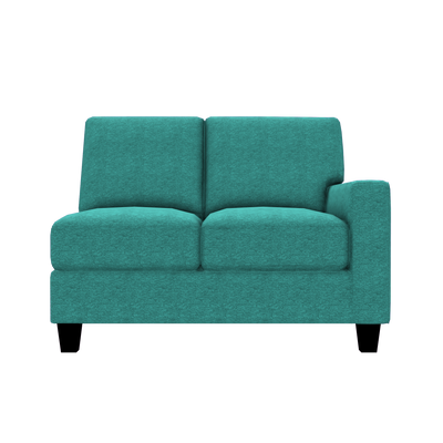 Designed2B Farah Chenille RAF Loveseat Sectional - Milo Teal - Raf Loveseat Sectional