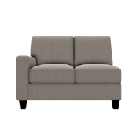 Designed2B Farah Textured Polyester LAF Loveseat Sectional - Plush Pewter