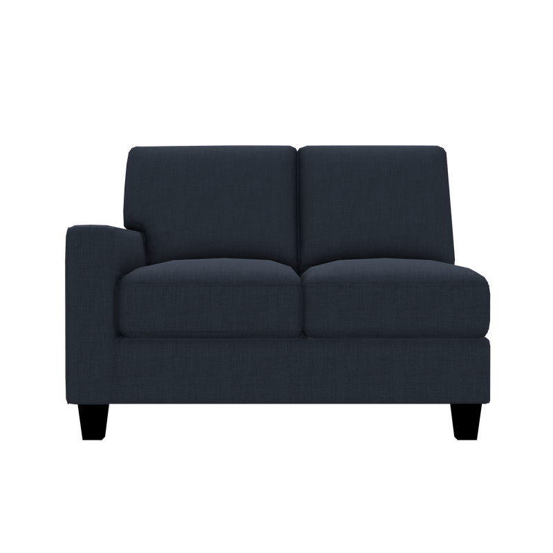 Designed2B Farah Linen-Look Fabric LAF Loveseat Sectional - Cabo Damask - Laf Loveseat Sectional