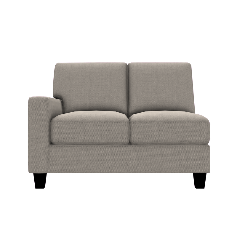 Designed2B Farah Textured Polyester LAF Loveseat Sectional - Plush Ecru - Laf Loveseat Sectional