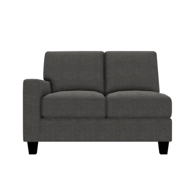 Designed2B Farah Chenille LAF Loveseat Sectional - Milo Charcoal - Laf Loveseat Sectional