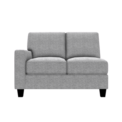 Designed2B Farah Chenille LAF Loveseat Sectional - Milo Linen - Laf Loveseat Sectional