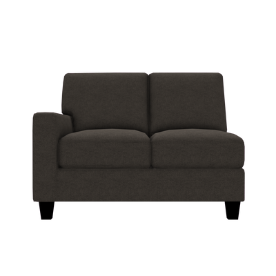 Designed2B Farah Velvet LAF Loveseat Sectional - Kira Musk - Laf Loveseat Sectional