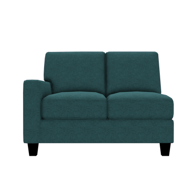 Designed2B Farah Velvet LAF Loveseat Sectional - Kira Sea - Laf Loveseat Sectional