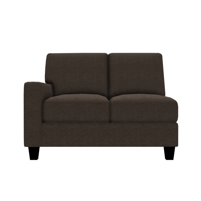 Designed2B Farah Chenille LAF Loveseat Sectional - Milo Espresso - Laf Loveseat Sectional