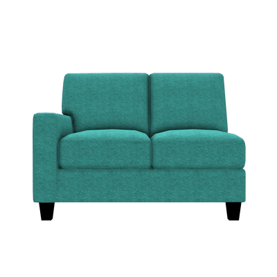 Designed2B Farah Chenille LAF Loveseat Sectional - Milo Teal - Laf Loveseat Sectional