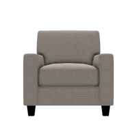 Designed2B Farah Textured Polyester Chair - Plush Pewter
