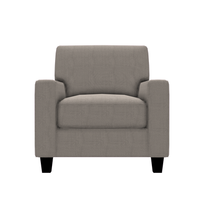 Designed2B Farah Textured Polyester Chair - Plush Pewter - Chair