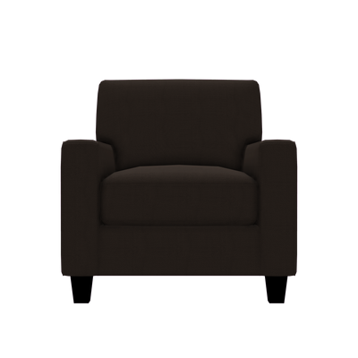 Designed2B Farah Textured Polyester Chair - Plush Chocolate|Fauteuil Farah Design à mon image en polyester texturé  - Plush chocolat|FA302479
