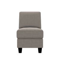 Designed2B Farah Textured Polyester Armless Chair - Plush Pewter