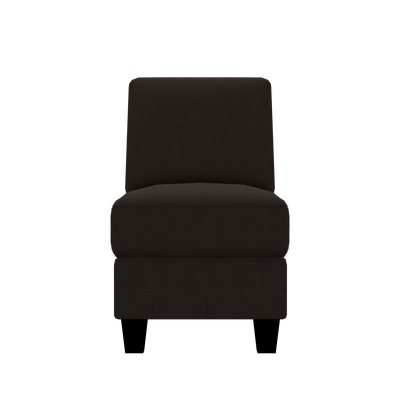 Designed2B Farah Textured Polyester Armless Chair - Plush Chocolate|Fauteuil sans accoudoirs Farah Design à mon image en polyester texturé  - Plush chocolat|FA452479