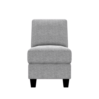 Designed2B Farah Chenille Armless Chair - Milo Linen - Armless Chair