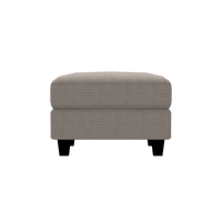 Designed2B Farah Textured Polyester Ottoman - Plush Pewter