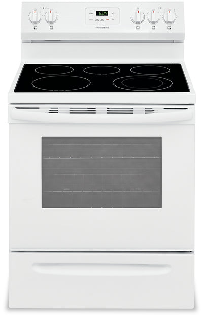 "Frigidaire 30"" 5.3 Cu. Ft. Electric Range - FCRE305CAW - Electric Range in White"