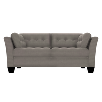 Designed2B Felix Textured Polyester Condo Sofa - Plush Pewter