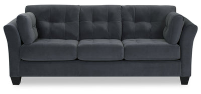 Designed2B Felix Velvet Sofa - Kira Grey - {Contemporary} style Sofa in Kira Grey {Solid Hardwoods}