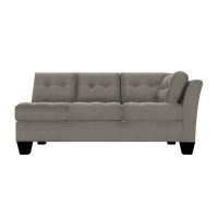 Designed2B Felix Textured Polyester RAF Sofa - Plush Pewter