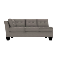 Designed2B Felix Textured Polyester LAF Sofa - Plush Pewter