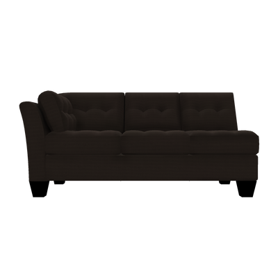 Designed2B Felix Textured Polyester LAF Sofa - Plush Chocolate - Laf Sofa