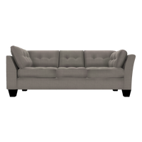 Designed2B Felix Textured Polyester RAF Sofa Return - Plush Pewter