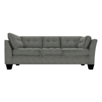 Designed2B Felix Velvet RAF Sofa Return - Kira Platinum