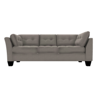 Designed2B Felix Textured Polyester LAF Sofa Return - Plush Pewter