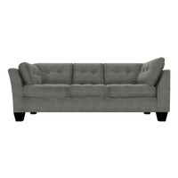 Designed2B Felix Velvet LAF Sofa Return - Kira Platinum