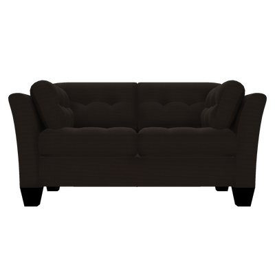 Designed2B Felix Textured Polyester Loveseat - Plush Chocolate|Causeuse Felix Design à mon image en polyester texturé  - Plush chocolat|FE202479