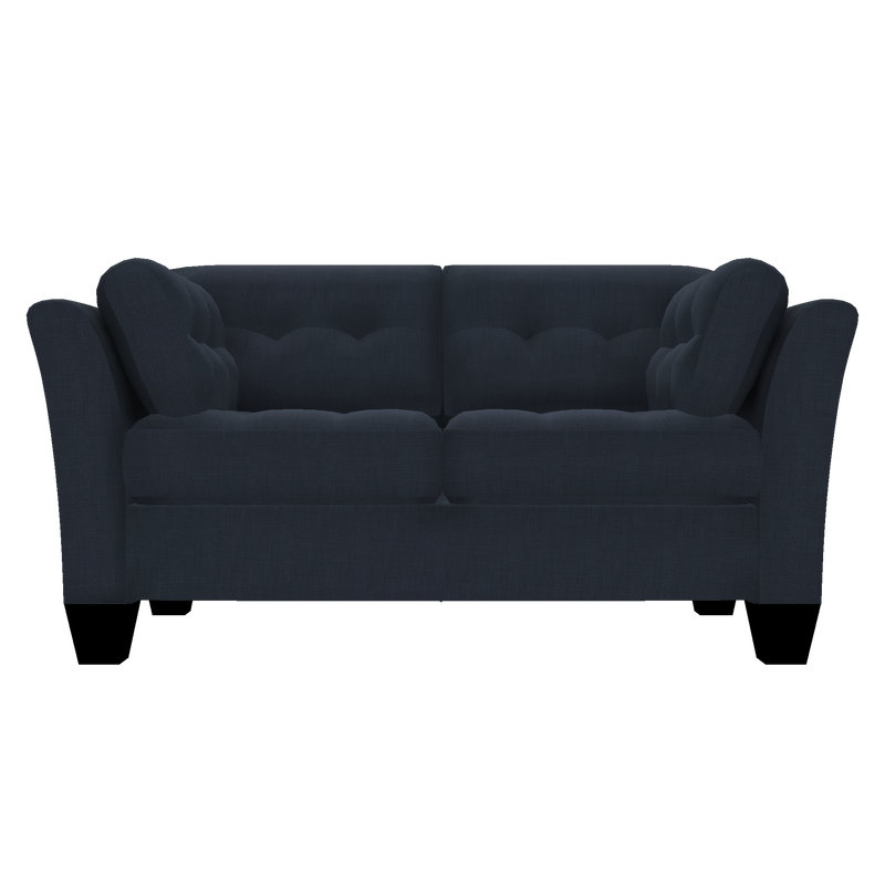 Designed2B Felix Linen-Look Fabric Loveseat - Cabo Damask - Loveseat