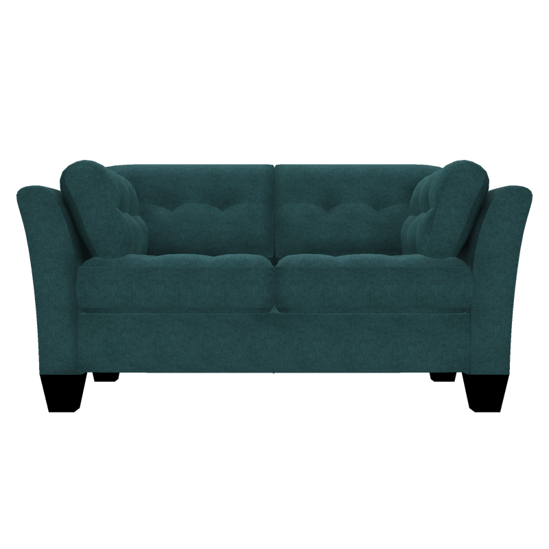 Designed2B Felix Velvet Loveseat - Kira Sea - Loveseat