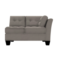 Designed2B Felix Textured Polyester RAF Loveseat Sectional - Plush Pewter