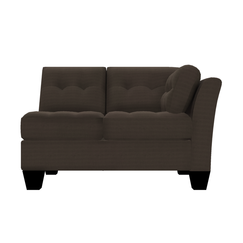 Designed2B Felix Textured Polyester RAF Loveseat Sectional - Plush Dark Ash - Raf Loveseat Sectional